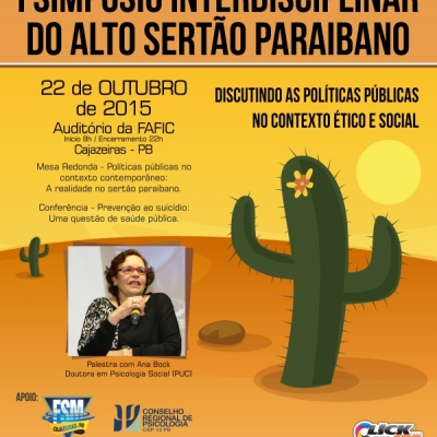 I SIMPÓSIO INTERDISCIPLINAR DO ALTO SERTÃO PARAIBANO: Discutindo as políticas públicas no contexto ético e social.